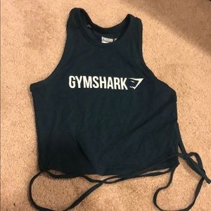 Gymshark teal crop top M. Worn once.